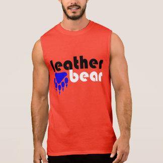 Leather Bear Blue Bear Paw Sleeveless Shirts
