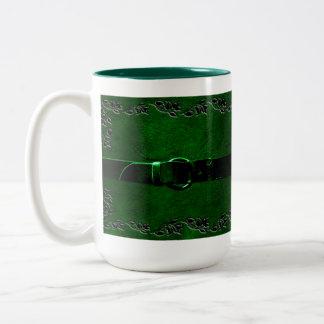 Leather & Belt Rich Green Coffee Mug