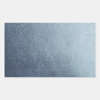 Leather blue background rectangular sticker