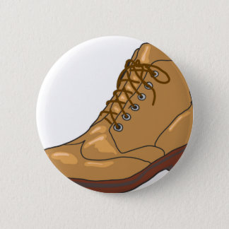Leather Boot Sketch 6 Cm Round Badge