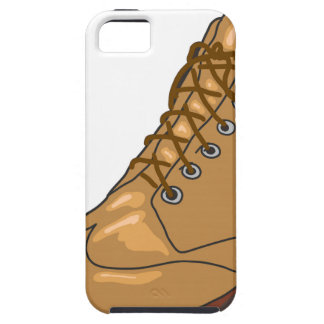 Leather Boot Sketch Case For The iPhone 5