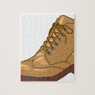 Leather Boot Sketch Jigsaw Puzzle