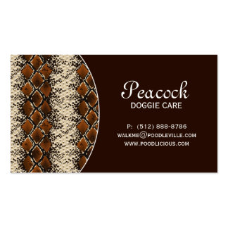 Leather Business Card Snake Skin Animal Pet Care