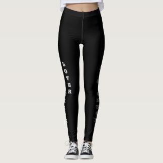 Leather & chrome leggings