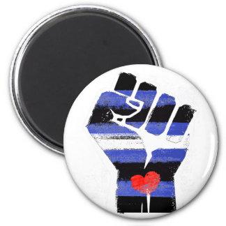LEATHER DADDIES RESIST - LGBT RESISTANCE -- -  6 CM ROUND MAGNET