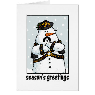 leather daddy snowman card
