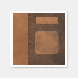 Leather decor disposable napkin