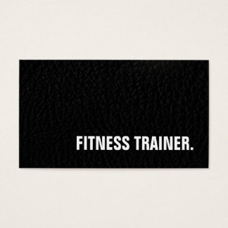 Leather Effect Unique Special Grey Fitness Trainer Business Card