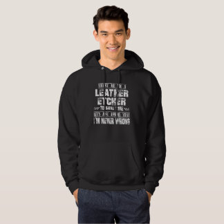 LEATHER ETCHER HOODIE