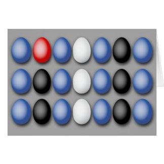 Leather Flag Eggs Card