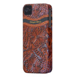 leather floral  iphone case-personalizable iPhone 4 cases