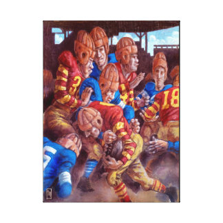 Leather heads: Vintage Football Players Wall Art