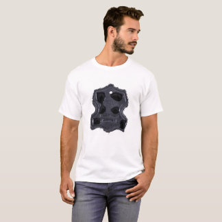 Leather label isolated on white T-Shirt