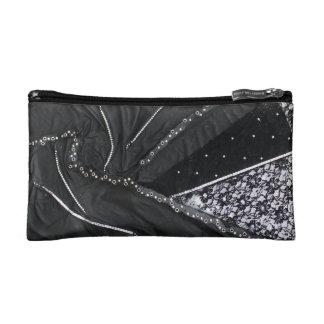 Leather Lace Makeup Bag
