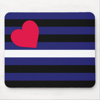 Leather Latex and BDSM Pride Flag Mouse Pad