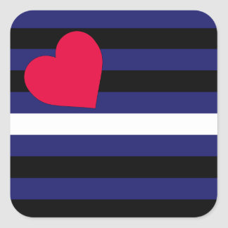 Leather Latex and BDSM Pride Flag Square Sticker