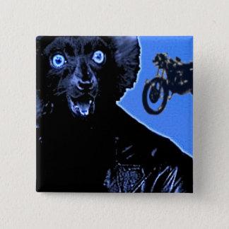 Leather Lemur 15 Cm Square Badge