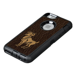 Leather-Look Aries OtterBox Defender iPhone Case