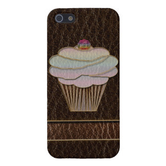 Leather-Look Baking Dark iPhone 5/5S Cases