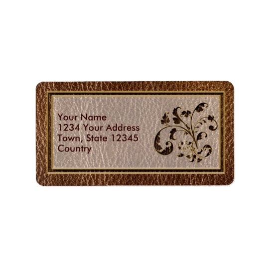 Leather-Look Bouquet 2 Address Label