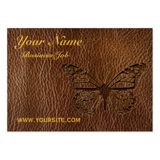 Leather-Look Butterfly Business Card Template