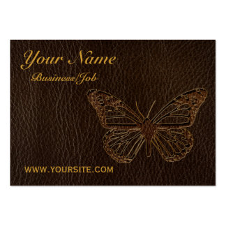 Leather-Look Butterfly Dark Business Card Templates