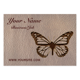 Leather-Look Butterfly Soft Business Card