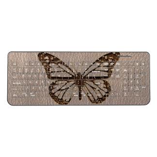 Leather-Look Butterfly Soft Wireless Keyboard