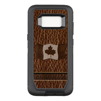 Leather-Look Canada Flag OtterBox Defender Samsung Galaxy S8 Case