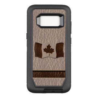 Leather-Look Canada Flag Soft OtterBox Defender Samsung Galaxy S8 Case