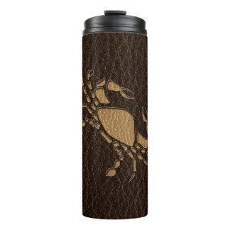 Leather-Look Cancer Thermal Tumbler