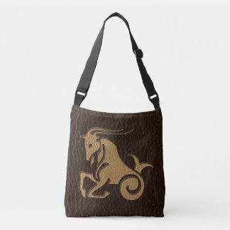 Leather-Look Capricorn Crossbody Bag