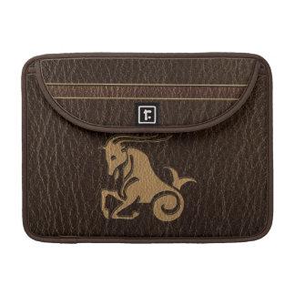 Leather-Look Capricorn Sleeve For MacBooks