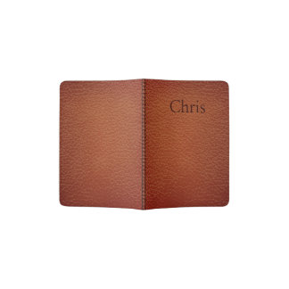 Leather look customisable passport holder