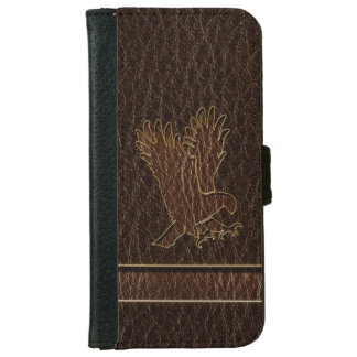 Leather-Look Eagle Dark iPhone 6 Wallet Case
