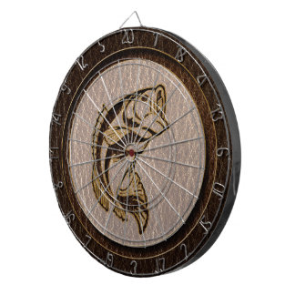 Leather-Look Fish Dark Dartboard