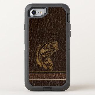 Leather-Look Fish Dark OtterBox Defender iPhone 8/7 Case
