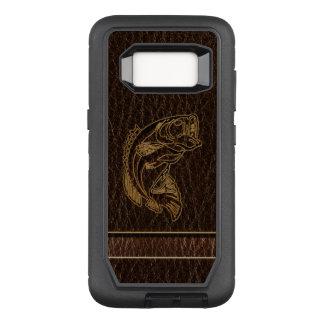 Leather-Look Fish Dark OtterBox Defender Samsung Galaxy S8 Case