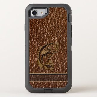 Leather-Look Fish OtterBox Defender iPhone 8/7 Case