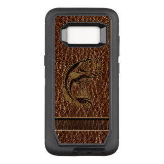 Leather-Look Fish OtterBox Defender Samsung Galaxy S8 Case