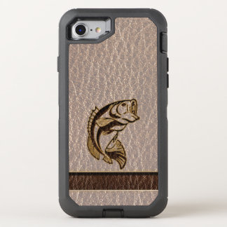 Leather-Look Fish Soft OtterBox Defender iPhone 8/7 Case