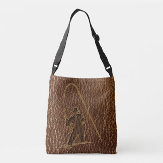 Leather-Look Fisherman Crossbody Bag
