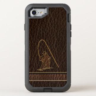 Leather-Look Fisherman Dark OtterBox Defender iPhone 8/7 Case