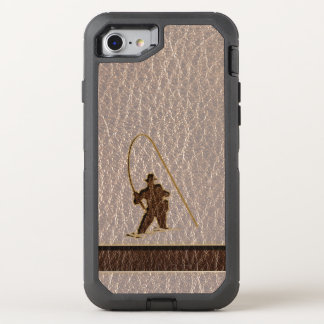 Leather-Look Fisherman Soft OtterBox Defender iPhone 8/7 Case