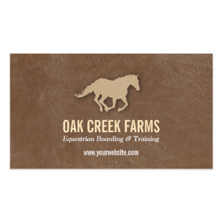 Leather Look Horse Imprint Business Cards