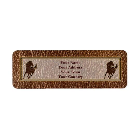 Leather-Look Horse Return Address Label