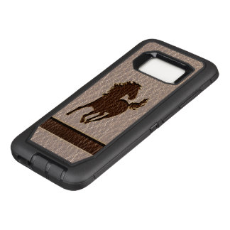 Leather-Look Horse Soft OtterBox Defender Samsung Galaxy S8 Case