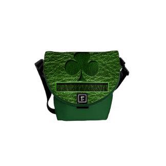 Leather-Look Irish Clover Messenger Bags