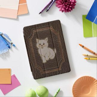 Leather-Look Kitten Dark iPad Pro Cover