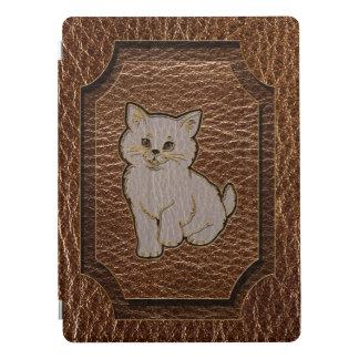 Leather-Look Kitten iPad Pro Cover